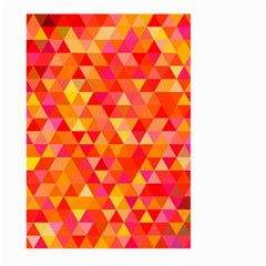 Triangle Tile Mosaic Pattern Large Garden Flag (two Sides)