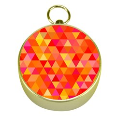 Triangle Tile Mosaic Pattern Gold Compasses