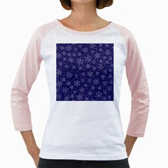 Snowflakes Pattern Girly Raglans