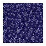 Snowflakes Pattern Medium Glasses Cloth (2-Side) Front