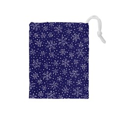 Snowflakes Pattern Drawstring Pouches (medium)
