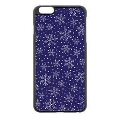 Snowflakes Pattern Apple Iphone 6 Plus/6s Plus Black Enamel Case