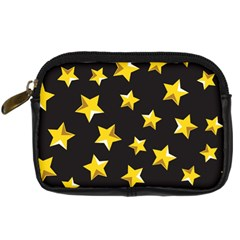 Yellow Stars Pattern Digital Camera Cases