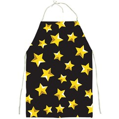 Yellow Stars Pattern Full Print Aprons
