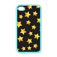 Yellow Stars Pattern Apple Iphone 4 Case (color)
