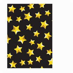 Yellow Stars Pattern Large Garden Flag (two Sides)