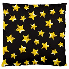 Yellow Stars Pattern Standard Flano Cushion Case (one Side)