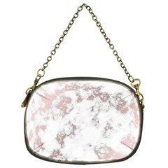 Pure And Beautiful White Marple And Rose Gold, Beautiful ,white Marple, Rose Gold,elegnat,chic,modern,decorative, Chain Purses (one Side)