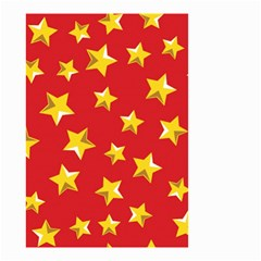Yellow Stars Red Background Pattern Small Garden Flag (two Sides)