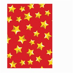 Yellow Stars Red Background Pattern Large Garden Flag (two Sides)