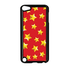 Yellow Stars Red Background Pattern Apple Ipod Touch 5 Case (black)