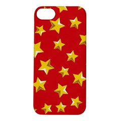 Yellow Stars Red Background Pattern Apple Iphone 5s/ Se Hardshell Case
