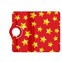 Yellow Stars Red Background Pattern Kindle Fire Hdx 8 9  Flip 360 Case
