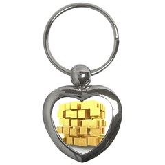 Gold Bars Feingold Bank Key Chains (heart)