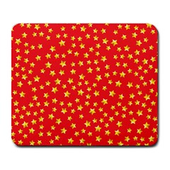 Yellow Stars Red Background Large Mousepads