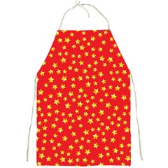 Yellow Stars Red Background Full Print Aprons