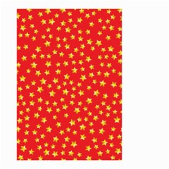 Yellow Stars Red Background Small Garden Flag (two Sides)