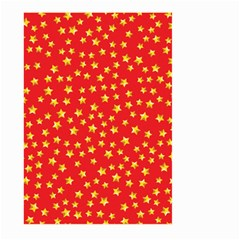 Yellow Stars Red Background Large Garden Flag (two Sides)
