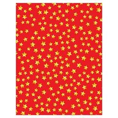 Yellow Stars Red Background Drawstring Bag (large)