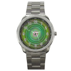 Wire Woven Vector Graphic Sport Metal Watch