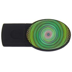 Wire Woven Vector Graphic Usb Flash Drive Oval (4 Gb)