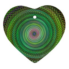 Wire Woven Vector Graphic Heart Ornament (two Sides)