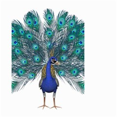 Peacock Bird Peacock Feathers Small Garden Flag (two Sides)
