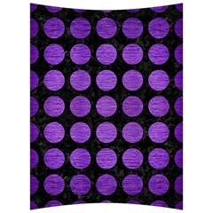 Circles1 Black Marble & Purple Brushed Metal (r) Back Support Cushion