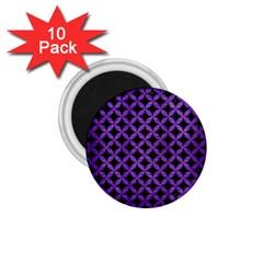 Circles3 Black Marble & Purple Brushed Metal (r) 1 75  Magnets (10 Pack)