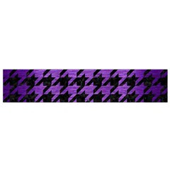 Houndstooth1 Black Marble & Purple Brushed Metal Flano Scarf (small)