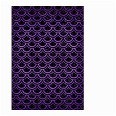 Scales2 Black Marble & Purple Brushed Metal (r) Small Garden Flag (two Sides)