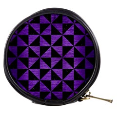 Triangle1 Black Marble & Purple Brushed Metal Mini Makeup Bags
