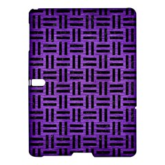 Woven1 Black Marble & Purple Brushed Metal Samsung Galaxy Tab S (10 5 ) Hardshell Case