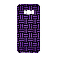 Woven1 Black Marble & Purple Brushed Metal (r) Samsung Galaxy S8 Hardshell Case