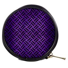 Woven2 Black Marble & Purple Brushed Metalwoven2 Black Marble & Purple Brushed Metal Mini Makeup Bags