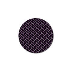 Brick2 Black Marble & Purple Colored Pencil (r) Golf Ball Marker (10 Pack)