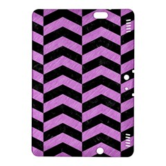 Chevron2 Black Marble & Purple Colored Pencil Kindle Fire Hdx 8 9  Hardshell Case