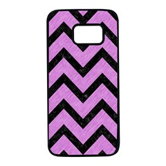 Chevron9 Black Marble & Purple Colored Pencil Samsung Galaxy S7 Black Seamless Case
