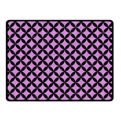 Circles3 Black Marble & Purple Colored Pencil Double Sided Fleece Blanket (small)