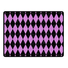 Diamond1 Black Marble & Purple Colored Pencil Double Sided Fleece Blanket (small)