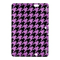Houndstooth1 Black Marble & Purple Colored Pencil Kindle Fire Hdx 8 9  Hardshell Case