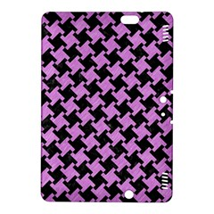 Houndstooth2 Black Marble & Purple Colored Pencil Kindle Fire Hdx 8 9  Hardshell Case
