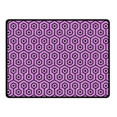 Hexagon1 Black Marble & Purple Colored Pencil Double Sided Fleece Blanket (small)