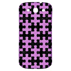 Puzzle1 Black Marble & Purple Colored Pencil Samsung Galaxy S3 S Iii Classic Hardshell Back Case