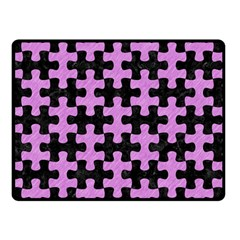 Puzzle1 Black Marble & Purple Colored Pencil Double Sided Fleece Blanket (small)