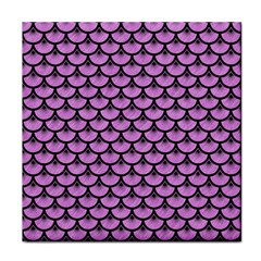 Scales3 Black Marble & Purple Colored Pencil Face Towel