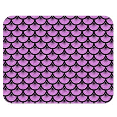 Scales3 Black Marble & Purple Colored Pencil Double Sided Flano Blanket (medium)