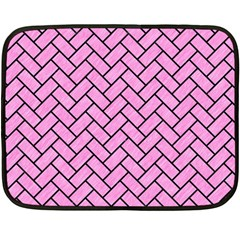 Brick2 Black Marble & Pink Colored Pencil Double Sided Fleece Blanket (mini)