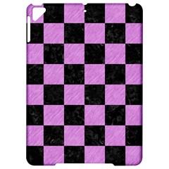 Square1 Black Marble & Purple Colored Pencil Apple Ipad Pro 9 7   Hardshell Case