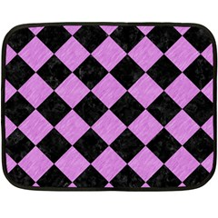 Square2 Black Marble & Purple Colored Pencil Double Sided Fleece Blanket (mini)